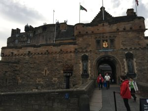 Edinburgh Castle in Scotland. Stumbled on the Scottish Crown Jewels and the Stone of Scone (or Stone of Destiny)...Didn't realize they were in there.