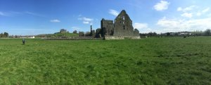Castles galore in Ireland. This is St. Mary's Abby, with the Rock of Cashel in the background.