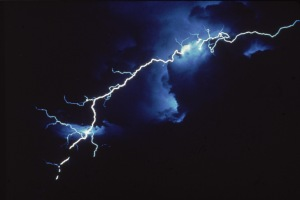 View of intercloud lightning at night, late Twentieth Century. (Photo by Hulton Archive/Getty Images)