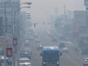 Western Wildfires-Reno Smoke