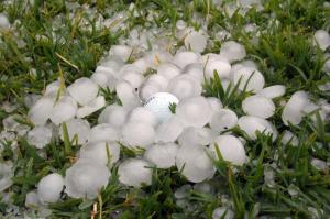 hail golf ball