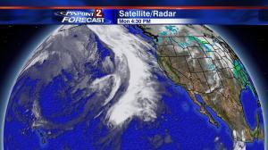 Pacific Satellite/Radar Monday afternoon.