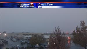 Snow falling at 4:45 pm Monday in Reno.
