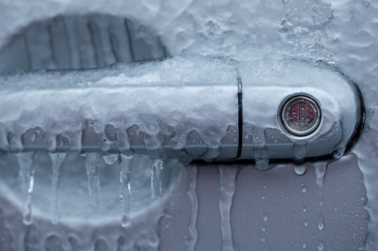 Freezing rain car