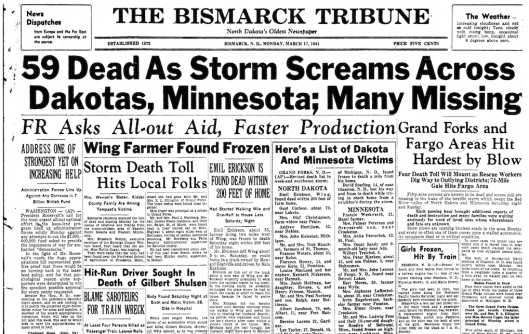 Dakota Blizzard Headlines